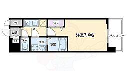 クリスタルグランツ京都西大路 6階1Kの間取り