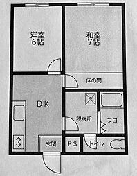神奈川県横浜市西区中央1の賃貸マンションの間取り