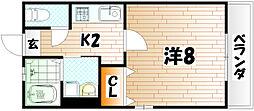 福岡県北九州市門司区大里東4丁目の賃貸アパートの間取り