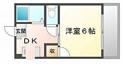 メゾン土井[1階]の間取り