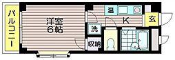 コーポ福田[3階]の間取り