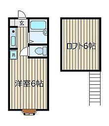ミヤハウス1号棟[2階]の間取り