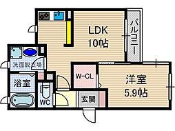 さくら1番館[2階]の間取り