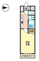 愛知県名古屋市名東区上社4の賃貸マンションの間取り
