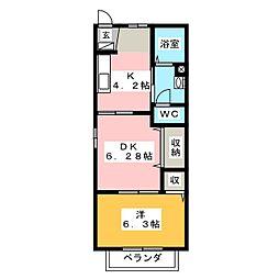 コートハウスY[1階]の間取り