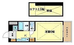 エステムコート大阪中之島南[5階]の間取り
