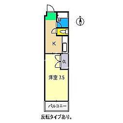 ハイツリバーサイド[2階]の間取り
