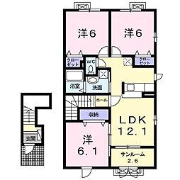 LaLe E[2階]の間取り