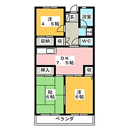 近畿マンション[3階]の間取り