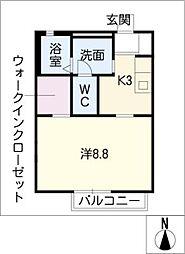 エクレール泰山 B棟[2階]の間取り