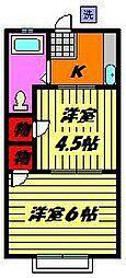 ル・ショコラ宮崎町[202号室]の間取り