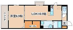 兵庫県明石市本町2丁目の賃貸アパートの間取り