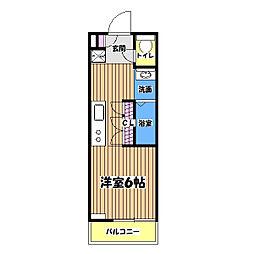 B CITY APARTMENT TACHIKAWA tokyo[1階]の間取り