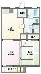愛知県名古屋市名東区大針2丁目の賃貸アパートの間取り