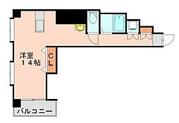 セントラルコート博多駅東[5階]の間取り