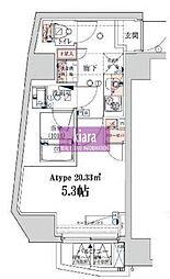 ベルシード横濱ウエスト[3階]の間取り