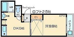 アーバンライフ淡路[2階]の間取り