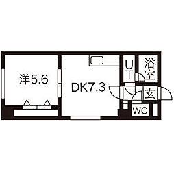 北海道札幌市東区北19条東12丁目の賃貸マンションの間取り