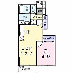 [大東建託]エクセレントA (三戸町)[1階]の間取り