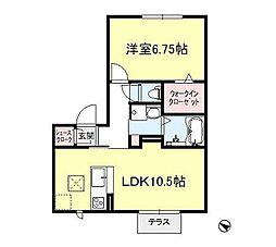 D-room スクエアヤマニ[2階]の間取り