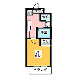 愛知県名古屋市港区宝神2丁目の賃貸マンションの間取り