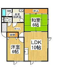 桜木ハイツ2号棟[2階]の間取り