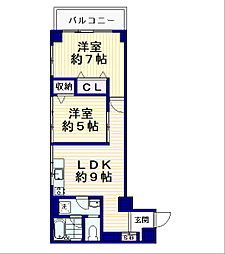 シャンボール南中野[4階]の間取り