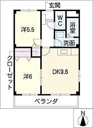 メゾン・ド・SWEETII[2階]の間取り