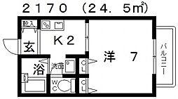 フレグランス新町[201号室号室]の間取り
