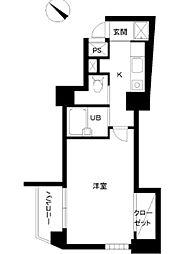 東京都文京区関口2丁目の賃貸マンションの間取り