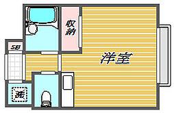 東京都大田区本羽田1丁目の賃貸マンションの間取り