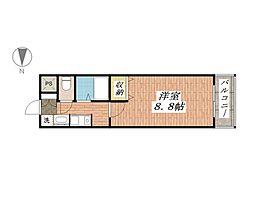 ソレイユ東奈良[3階]の間取り