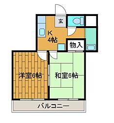 レジデンス南台[2階]の間取り
