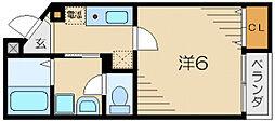 若葉ハウス[1階]の間取り