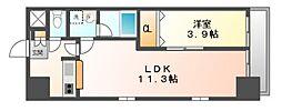 岡山県岡山市北区大供3丁目の賃貸マンションの間取り