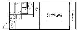 京都府京都市東山区今熊野剣宮町の賃貸アパートの間取り