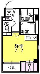 リベル西宮(Liber Nishinomiya)[102号室]の間取り