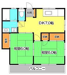 ウィングコーポ[1階]の間取り