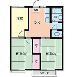 グランデュール茅ヶ崎[2階]の間取り