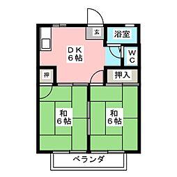 ソーブルA棟[1階]の間取り