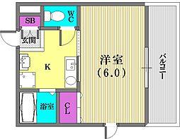 エステムコート神戸元町通[3階]の間取り