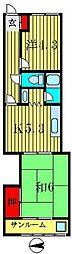 ハイツ小梅[2階]の間取り