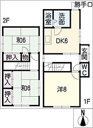 [一戸建] 三重県桑名市高塚町1丁目 の賃貸【/】の間取り
