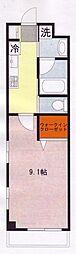川鶴コワン[3階]の間取り
