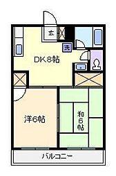 メゾンサガノ[2階]の間取り