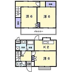 [テラスハウス] 神奈川県海老名市上今泉2丁目 の賃貸【/】の間取り