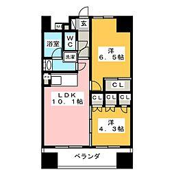 静岡馬場町エンブルコート[4階]の間取り