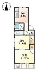 ナゴヤ聖マンション[1階]の間取り