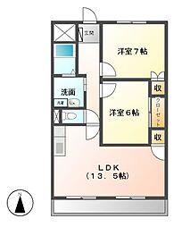 愛知県名古屋市緑区鶴が沢1丁目の賃貸マンションの間取り