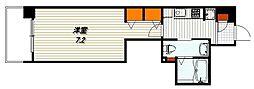 エステムプラザ東山邸 1階1Kの間取り